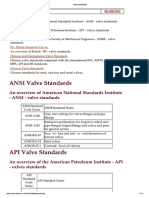 Standards aplicable for valves