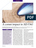 E. Rigby, M. Symonds, D. Ward-Thompson, A Comet Impact in AD 536- Astronomy and Geophysics 45 (2004)