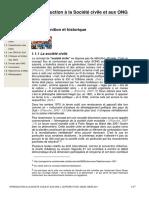 Introduction à La Société Civile Et Aux ONG