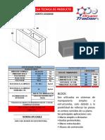 Ficha Tecnica Block Hueco de Concreto 15x20x40 Linea Estructural Nmx-c-404