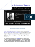 How to Climb the Mountain of Happiness - PPLI Provides Steps Up the Mountain - By Michael Malloy, CLU, TEP