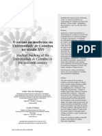 Ensino Da Medicina Na Universidade de Coimbra No Seculo Xvi