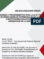Directiva N° 005-2016 - Alta y Baja