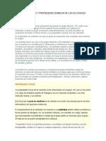 Identificacion y Propiedades Quimicas de Los Alcoholes