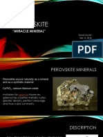 Perovskite Miracle Mineral