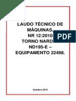 Modelo de Laudo de Maquina NR12
