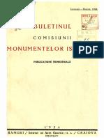 Buletinul Comisiunii Monumentelor Istorice 1924 Anul XVII