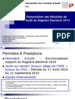 Présentation Finale Audit Registre Électoral