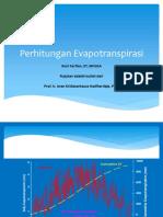 Bahan Ajar Hidrologi - Evapotranspirasi