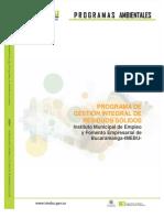 4.1. Programa de Gestion Integral de Residuos Solidos