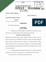 Acusación formal por lavado de dinero contra Alejandro andrade