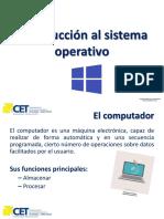 1- Introducción Al Sistema Operativo