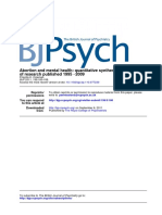 Abortion and Mental Health Quantitative Synthesis and Analysis
