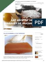 Las Recetas Del Marqués de Muchabarba_ DULCE de MEMBRILLO CON THERMOMIX