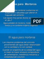 El agua para  Morteros.pdf