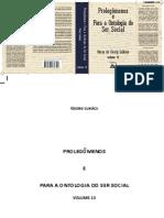 Georg Lukács - Prolegômenos e Para a Ontologia Do Ser Social - Obras de G. Lukács 13(2018, Coletivo Veredas) - Copia