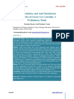 Antioxidative and Antimetalotoxic Properties of Green Tea Catechin a Preliminary Study