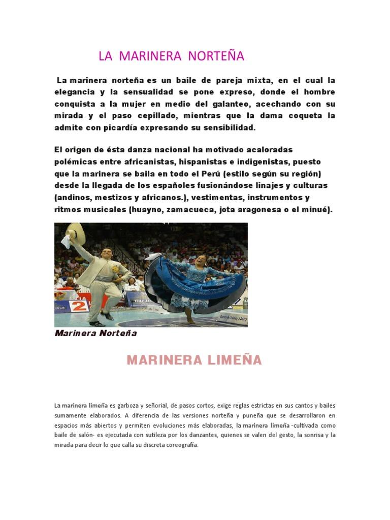 La Marinera Norteña Docx Performing Arts Dances