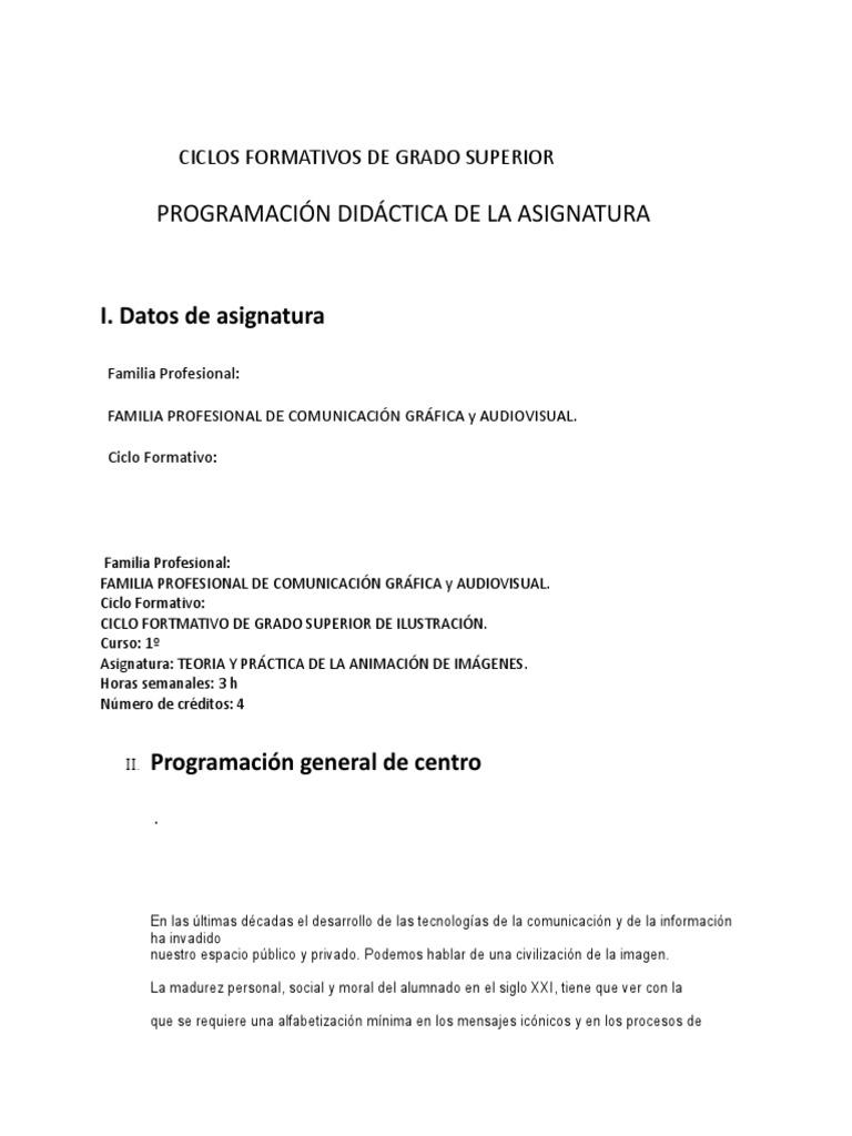1º Ilustración Teoria Y Präctica De La Animación