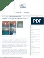 Impermeabilização de Reservatórios - GL Engenharia