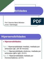 Hipersensibilidades (Tipos I,II,III e IV)