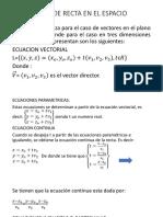 Ecuaciones de Recta en El Espacio