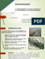 Estudio, Comportamiento Del Resalto Hidráulico en Canales Con Pendiente y Sección Rectangular