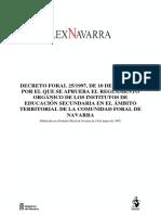 Decreto Foral Reglamento Orgánico Centros