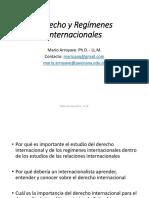 Derecho y Regímenes Internacionales