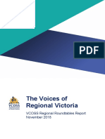 VCOSS the Voices of Regional Victoria