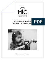 Suzuki Program Parent Handbook (Revised 2013)