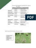 Inventario Agrostologico de Las Especies Vegetales de La Granja de Yauris