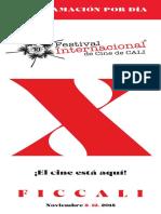 FICCALI 2018 Programacion Individual Por Dia
