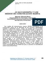 1988 La Mujer Salvadoreña y Los Medios de Comunicación Masiva