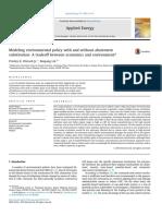 Modelando la politica ambiental con y sin sustitucion de abatimiento