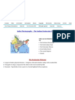 India Physiography - The Indian Peninsular Plateaus Iasmania - Civil Services Preparation Online ! UPSC & IAS Study Material