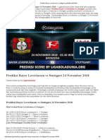 Prediksi Skor Bayer Leverkusen vs Stuttgart