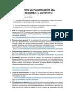 Glosario de Planificacion de Entrenamiento Deportivo (Desarrollo)