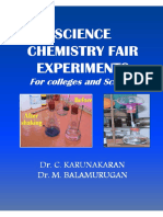 Karunakaran Book- Science Chemistry Fair Experiments - Highlights