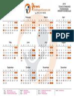 Texas SPO 2019 Calendar by YourChildSupportLawyer.com