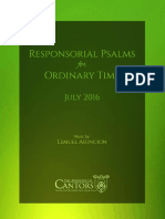 Responsorial Psalms (July 2016)