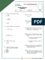 Examen Bimestral Aritmetica 1 Sec