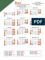 2016-2017 SPO Calendar YourChildSupportLawyer.com