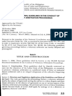 Guidelines in the conduct of VA proceedings in the NCMB