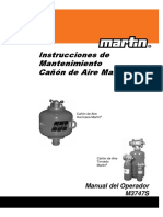 CAÑON de AIRE MARTIN Mantenimiento m3747-Esp