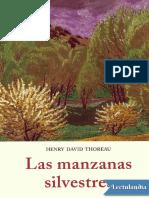 Las manzanas silvestres - Henry David Thoreau.pdf