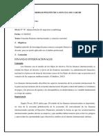 Finanzas internacionales y comercio nacional