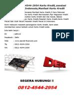 (T-Sel) 0812-4544-2954 Kartu Kredit, asosiasi kartu kredit Indonesia,Manfaat Kartu Kredit