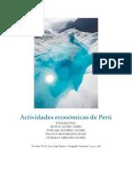 Actividades Económicas de Perú