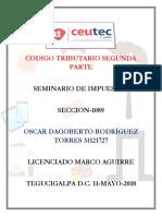 OscarRodriguez 31121727 Tarea-03 Codigo Tributario Segunda Parte